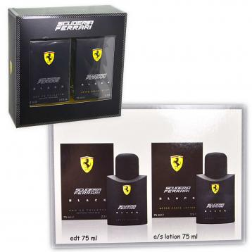 Coffret ferrari black (edt 75ml + a/s 75ml)