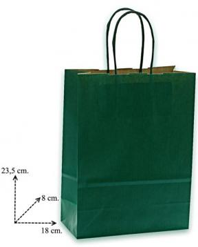 Shoppers carta  f.to 18 + 8 x 24 col.verde scuro m.r.
