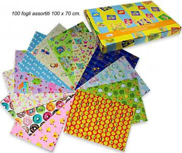 Carta regalo assortimento  bambini f.to. 70 x 100