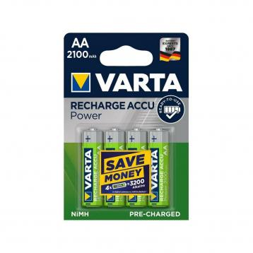 Varta power accu aa 'stilo' 2100 mah 4 pz