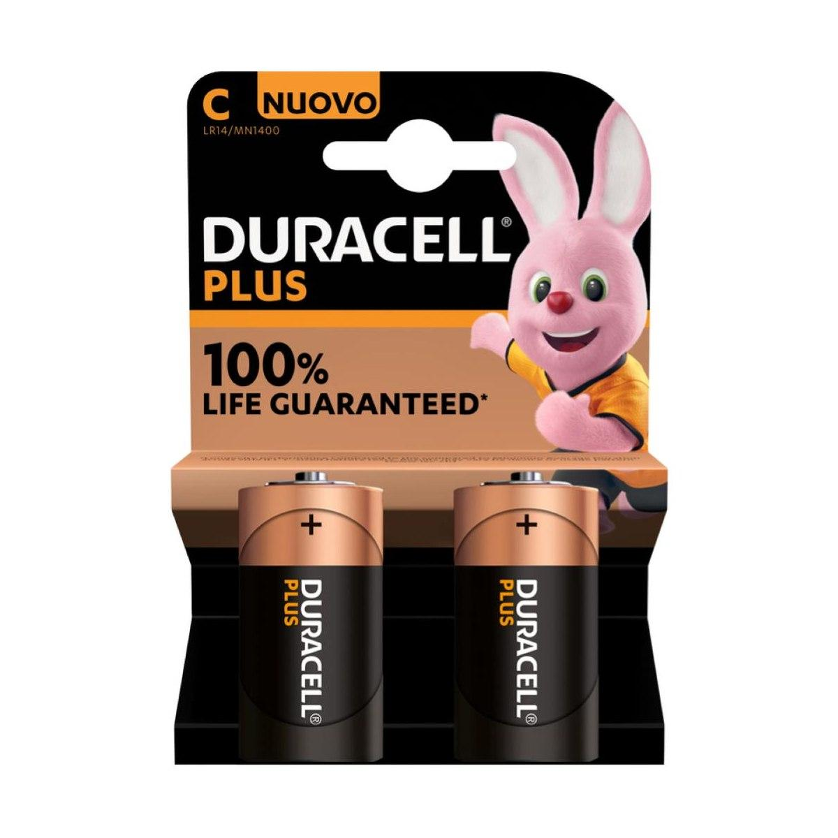Duracell plus power c '1/2 torcia'