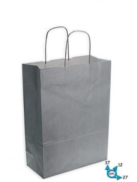 Shoppers carta f.to 27 x 12 x 37 col. argento m.r.