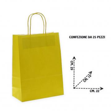 Shoppers carta f.to. 22 + 10  x 29 col.giallo