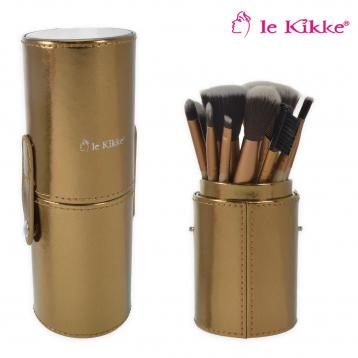 Le kikke set pennelli make-up cilindro colori assortiti