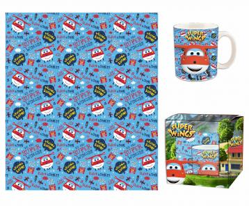 Gift kitchen coperta+tazza super wings