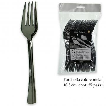 Forchetta metal nikel cromato 185 mm. conf.da 25 pz.
