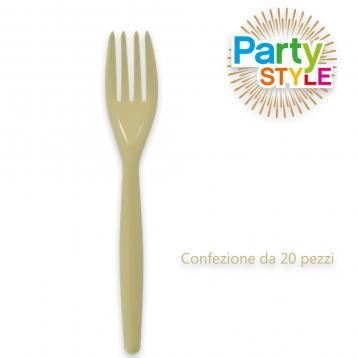 20 forchette 180 mm. party style avorio