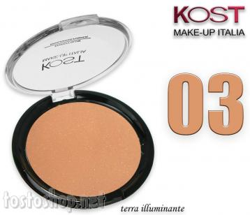 Polvere compatta perfect glow highlighter kost 03