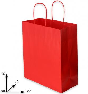 Shoppers rosso j-fold  f.to 27 + 12 x 30  m.ritorto