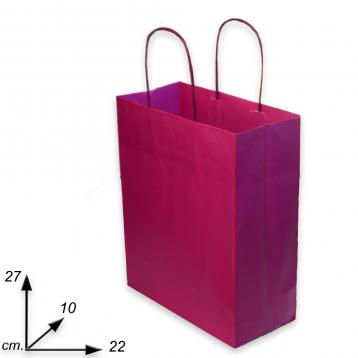 Shoppers fuxia  j-fold f.to 22 + 10 x 27  bicolore