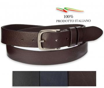 Cintura uomo in pelle unico strato - made in italy