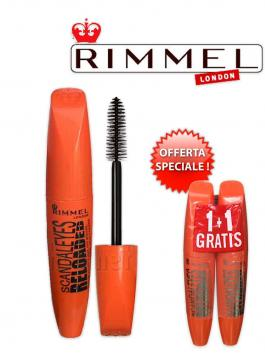 Rimmel mascara scandaleyes reloaded extra volume black 1 + 1 omaggio