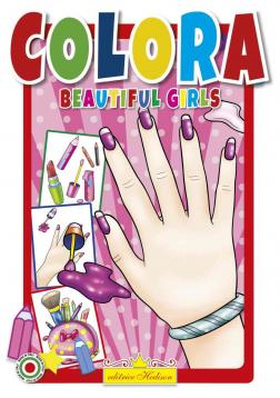 Libro da colorare . beautiful girls