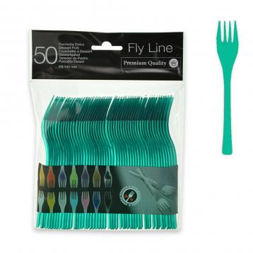 50 forchette dolce 140 mm.  fly line col.verde