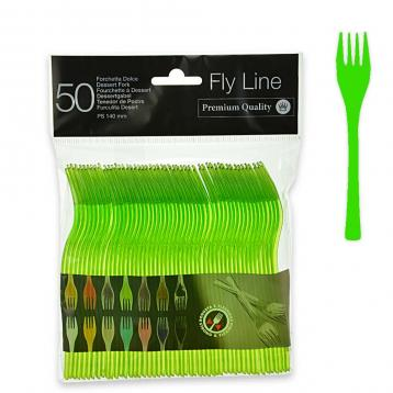 50 forchette dolce 140 mm.  fly line col.verde acido