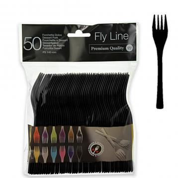 50 forchette dolce 140 mm.  fly line col.nero