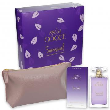 Coffret miss gocce sensual edt 100 ml + pochette