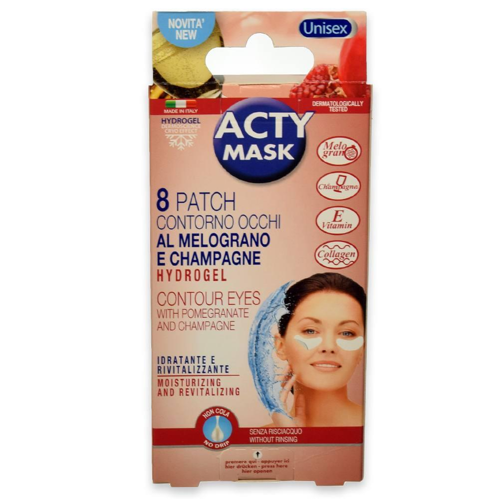 Acty mask 8 patches contorno occhi tnt tecnologia hydrogel
