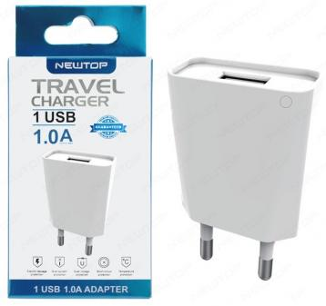Newtop cm11 small blister mini caricatore muro 1usb 1a
