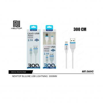 Newtop cu09 bluline usb lightning 3000mm