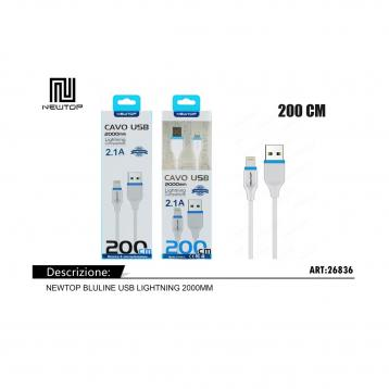 Newtop cu09 bluline usb lightning 2000mm