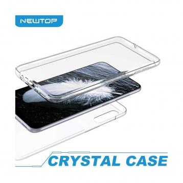 Newtop crystal case cover iphone x (a-iphone x - 8.trasparente)