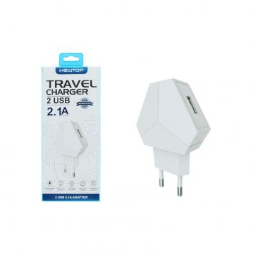 Newtop cm17 3 led 2.1a 2usb charger